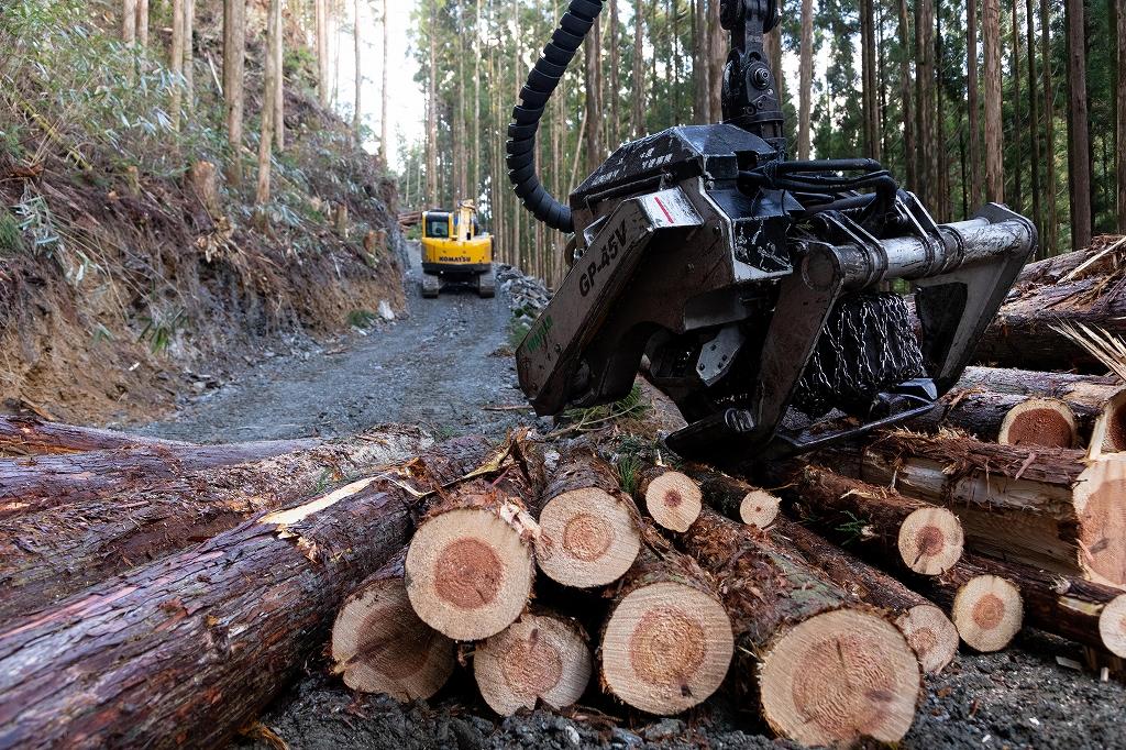 集材 林業 環境保護 高知